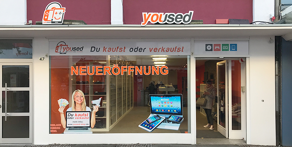 Schaufenster yoused Dinslaken